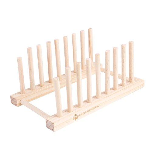 2 pieces/lot Multi Purpose Detachable Wooden Dish Racks 8 Sub-grid Pot Clips (Gold Chest Waders)