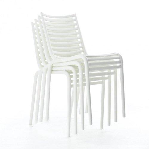 Driade Pip-e Stuhl 4er Set, weiß B4 matt