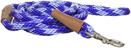 Mendota Dog Products 3/8-Inch by 6-Feet Snap Leash, Small, Diamond Sapphire Sky Blue/Royal Blue