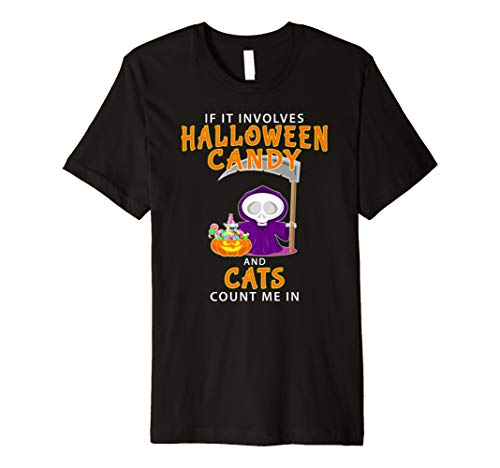 Halloween Cat Lover T-shirt Funny Last Minute Idea Gift
