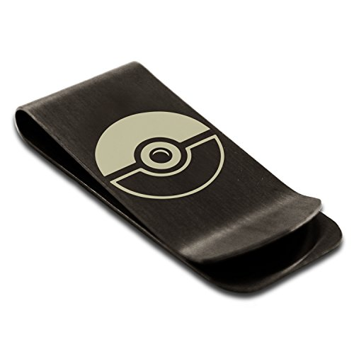 Classic Clip Steel Money Pokémon Credit Engraved Black Holder Card Ball Stainless Tioneer Poké E861qq