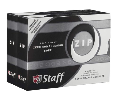 Wilson ZIP Double Dozen Golf Balls, Pack of 24 (White) (Golf 24k)