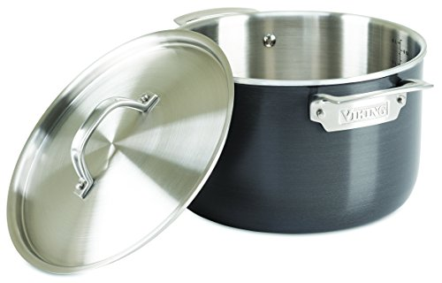 Viking 5-Ply Hard Stainless Stockpot with Hard Anodized Exterior, 7 Quart by Viking Culinary