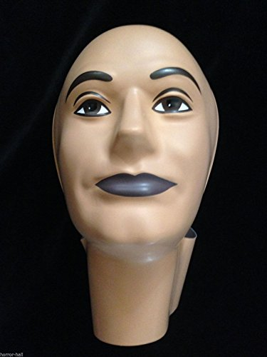 Horror-Hall Prop Building Supplies-MANNEQUIN HEAD FORM FACE COVER-Halloween costume Mask-MAN]()