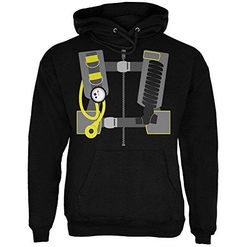 [Halloween - Scuba Diver Costume Mens Hoodie Black X-LG] (Scuba Diver Costumes)