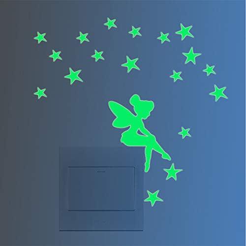 MEHOUSE Stickers Muraux Interrupteur,Stickers Muraux Licorne,Stickers Muraux Chambre Stickers Muraux D/écoratifs Lumineux Lumineux et Lumineux Stickers Muraux enfants