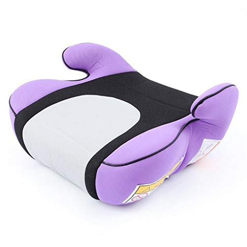 Adjustable Travel Booster Seat Child Car Seat Increased Cushion Portable Simple Seat Dining Chair Heightening Seat Cushion Washable Knitted Cotton Seat (Color : Purple)