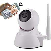 HD IP Camera 1080p WiFi Wireless Dome Camera IP Security Surveillance System with Remote Monitor, Night Vision and Two-Way Audio for Baby /Elder/ Pet/Nanny Monitor with Micro SD Card Slot