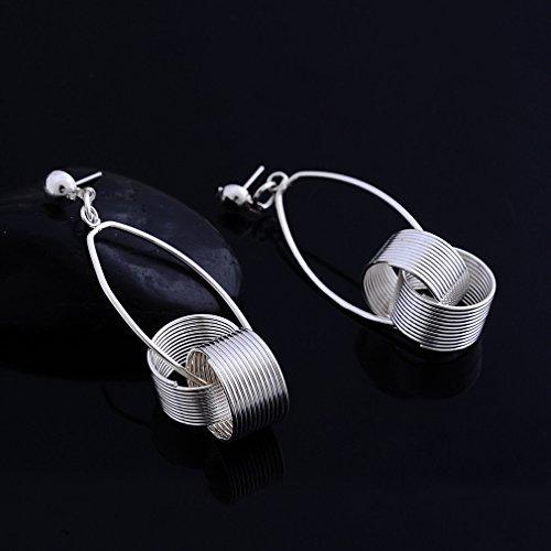 YAZILIND 18K Plaqué Argent inoxydable Stud Dangle Boucles d'oreilles pour Bijoux Femmes Cadeau
