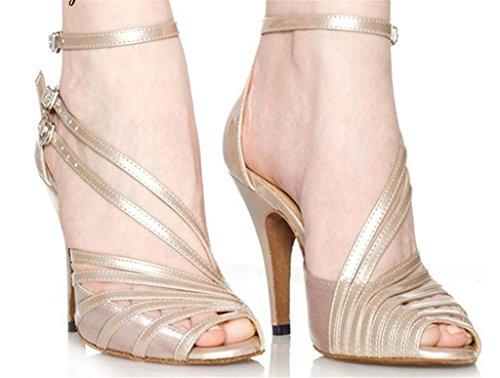 Mujeres Latino Cuero Strap Tobillo Tacón Inferior Tango Alto Zapatos Hebilla Wgwioo A Albaricoque Salón Clásicas De Suede Suave Sandalias Baile Color Xq6w4pxIv