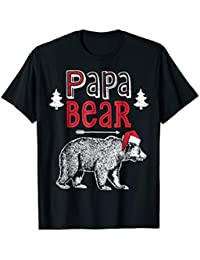 Papa Bear Christmas Santa T Shirt Family Matching Pajamas