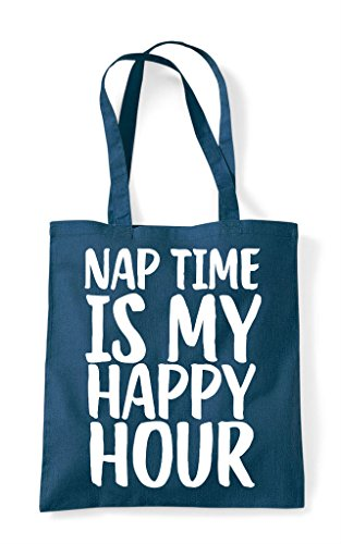 Tote Is My Bag Petrol Nap Time Shopper Happy Hour vB1Rw