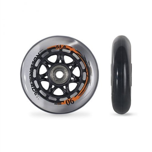 Rollerblade ABEC 9 High Performance Skate Bearings Complete Wheel Kit, 90mm/84A, Clear by Rollerblade