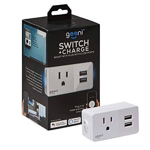Geeni Switch + Charge Smart Wi-Fi Plug with 2 USB Ports