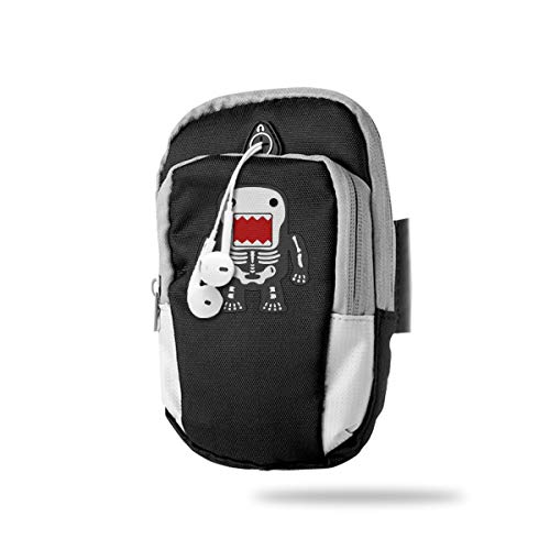 XUDONGXU Cell Phone Armband Case Holder Funny Cool Domo-kun Skeleton Phone Holder Pouch with Adjustable Velcro & Key Holder to Hold Money, Cards and Keys for Running & Working Out, Walking, Hiking]()