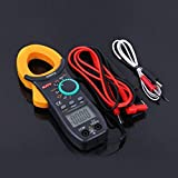 Universal Handheld Digital Clamp Meter AC/DC Multimeter Current Clamp Pincers Voltmeter Ammeter Ohm Current Voltage Tester - Yellow & Black
