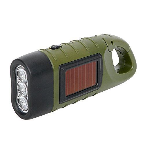 Linterna LED iTimo, con carga solar y manual, luz de emergencia para exteriores, linternas portátiles para campamentos…