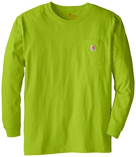 Carhartt Men's Big and Tall Workwear Pocket LS Jersey K126, Sour Apple, (Mens Ls Work Shirt)