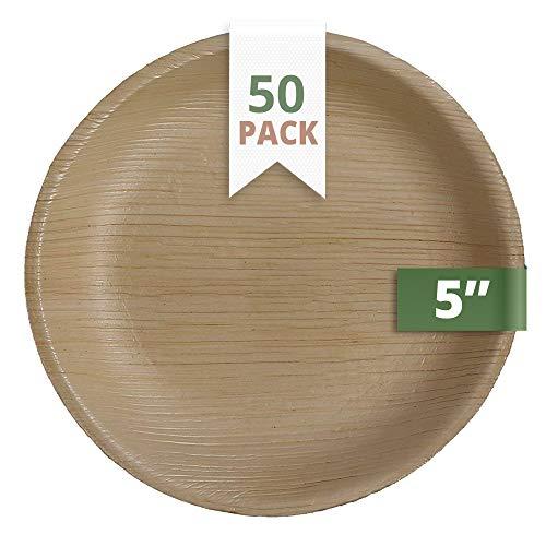 CaterEco 5-inch Round Palm Leaf Plates Set  | Ecofriendly Di