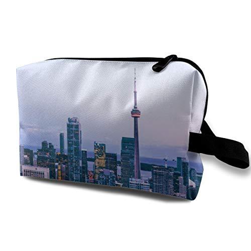 Toronto City Cosmetic Bags Makeup Organizer Bag Pouch Zipper Purse Handbag Clutch Bag -
