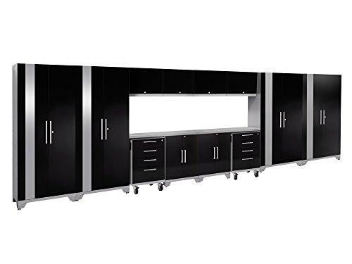 NewAge Products Performance 2.0 Black 14 Piece Set, Garage Cabinets, 53667