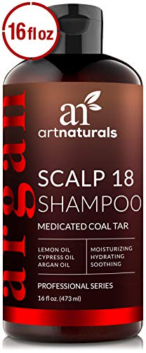 ArtNaturals Therapeutic Argan Anti-Dandruff Shampoo - (16 Fl Oz / 473ml) - Natural and Organic Coal Tar with Argan Oil - Treatment Helps Anti-Itchy Scalp, Symptoms of Psoriasis, Eczema - Sulfate Free (Head And Shoulders Anti Hair Fall Review)