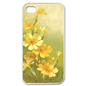 Vintage Flower Watercolor DIY Cover Case for Iphone 4,4S,personalized phone case ygtg586860