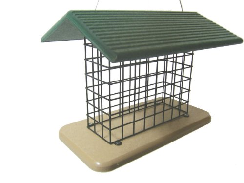 Birds Choice Suet & Seed Block Cage Feeder with Base and Roof Top