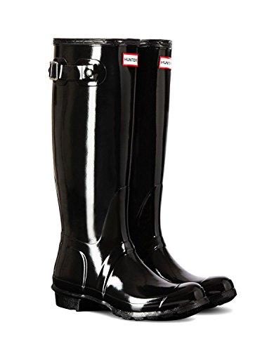 Wmn Tall Gloss Hunter Boots Wellington Org WoMen Black Black q566xtR