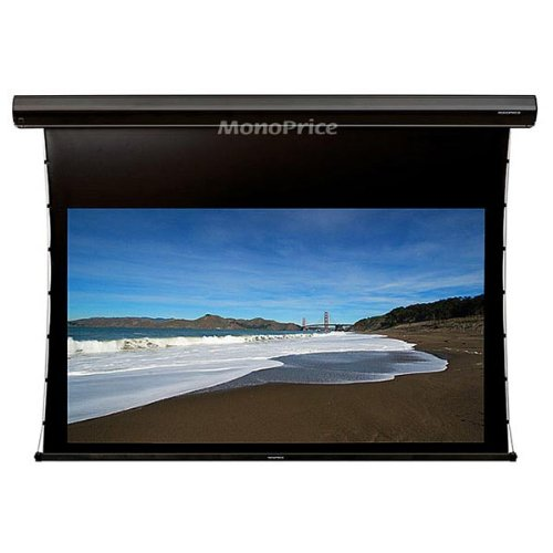 Monoprice Tab-Tensioned Motorized Projection Screen Somfy Mo