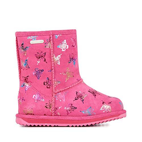 EMU Australia Flutter Brumby Kids Wool Waterproof Boots Size 9 Hot Pink