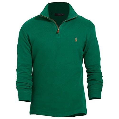 ns Cotton Ribbed Pullover Sweater Green S ()