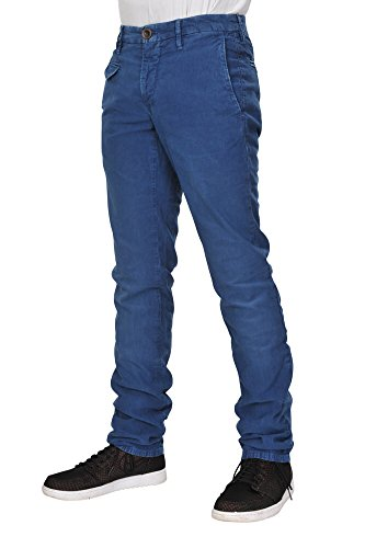 Incotex Pantaloni Uomo 28 Blu luminoso / chinos normale Regular Cut R