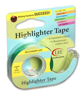 10 Pack LEE PRODUCTS COMPANY REMOVABLE HIGHLIGHTER TAPE
