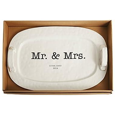 Mud Pie Mr. and Mrs. Platter, White