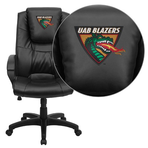 Flash Furniture Alabama at Birmingham Blazers Embroidered Black Leather Executive Office Chair