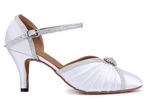 Joymod Damen White Heel Modern amp; 7cm MGM Jazz afq4dfw