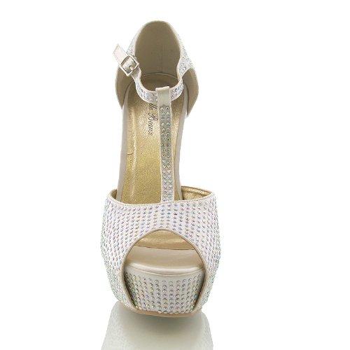e2b84680cb0 ... Sandalia de Vestir para Dama Tacón Alto con Brillos Elegantes Para Boda  Novia o Graduación Talla
