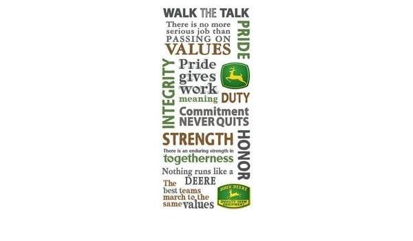 Amazon John Deere Values Scrapbook Stickers 17469