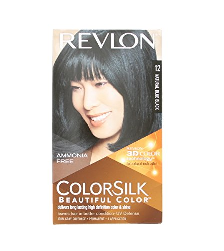 Revlon Colorsilk Beautiful Color, Natural Blue Black [12] 1 ea (Pack of 7)