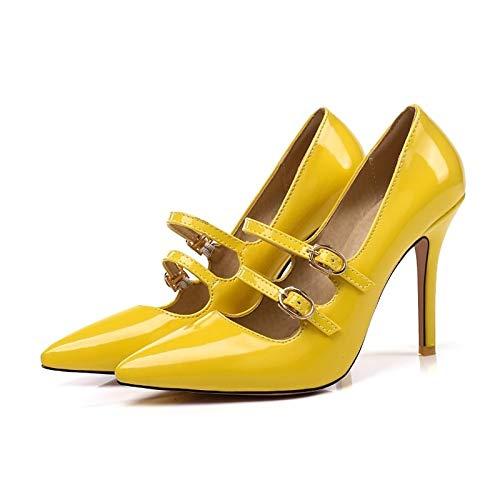Red Zapatos Almond Charol ZHZNVX Basic Verano Stiletto de de Pink Pump Comfort Heel Red Heels Mujer FddZBx
