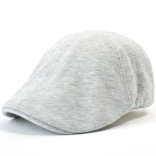 a6f33d2ec ililily Soft cotton Newsboy Flat Cap Pre-curved ivy stretch-fit Driver  Hunting Hat (flatcap-506-3)