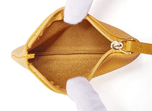 Borsa Yellow Cuoio Sottili Creativa Modo Personalità Di Borse Ginger Delle Della Moneta pFrwRqp
