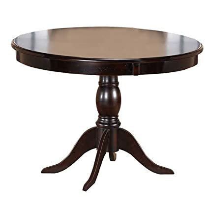 Hillsdale Furniture Traditional Dark Cherry Round Pedestal Dining Table