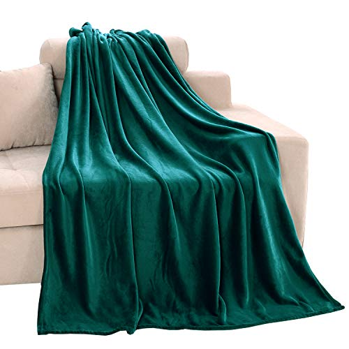 Exclusivo Mezcla Soft Flannel Fleece Velvet Plush Throw Blanket - 50 x 60 (Teal)