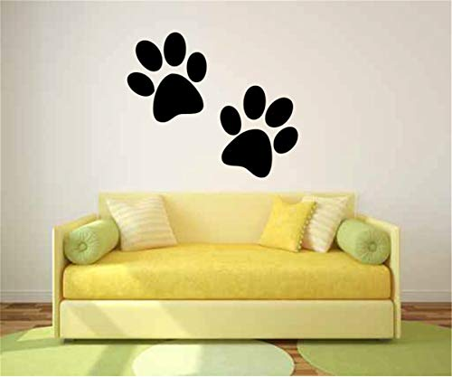 Peel and Stick Removable Wall Stickers Cute Animal Dog cat Wall Sticker Paw Prints for Living Room Bedroom
