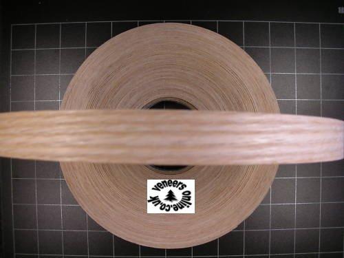 Iron-on Pre-Glued RED OAK Real Wood Veneer Edging 22mm wide, 5 Metres
