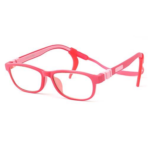Mind Bridge Kids Computer Glasses Video Gaming Glasses - Anti Harmful Blue Light / UV400   Anti Glare   Protection Eyewear for Children Digital Screen Time & Technology Use   Model 508 (Pink)