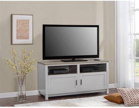 Mueble de TV, 2 cajones y 2 estantes abiertos, para televisores de ...