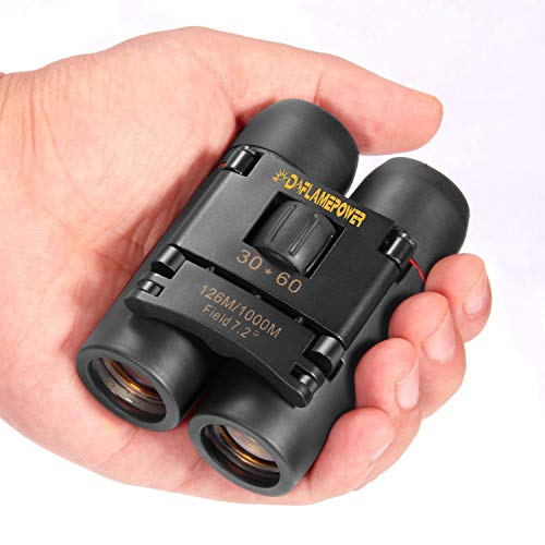 DFlamepower mini 30x60 Compact Folding Binoculars Telescope with Waterproof...